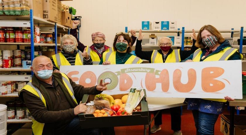 Shrewsbury foodhub credit Shropshire Star news banner