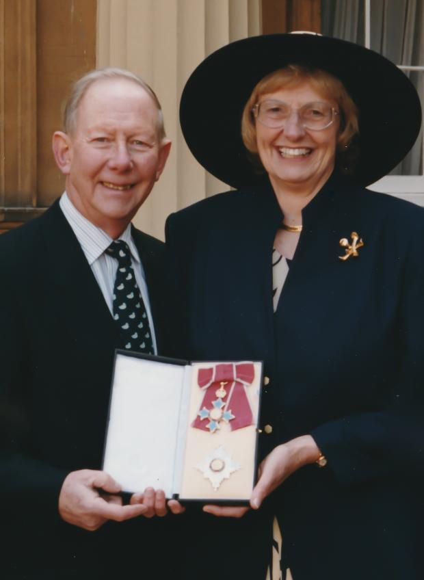 MargaretSeward Gordon and her at Buckingham Palace credit the Seward Family