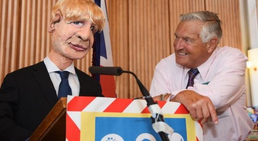 Boris Johnson and John webb credit Denise Bradley Archant 2021