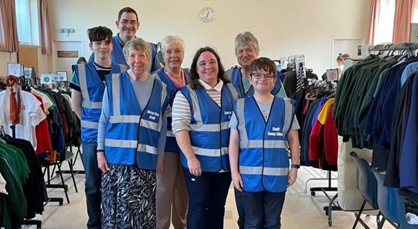 St Columbas school swap shop team2